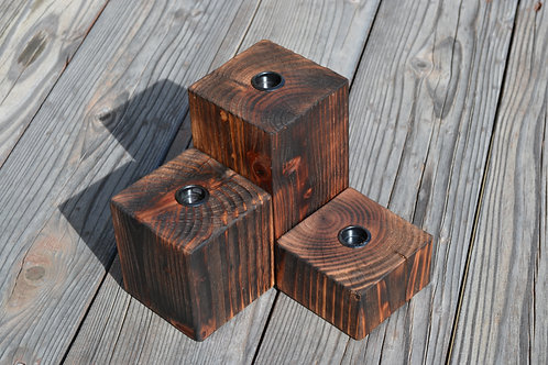burnished cedar display set of 3