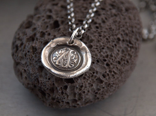 monogram charm necklace