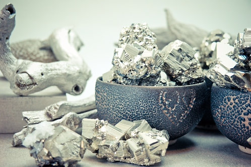 pyrite cluster - medium