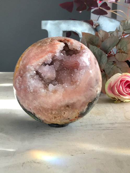 rare 5.41 lb top grade pink amethyst orb