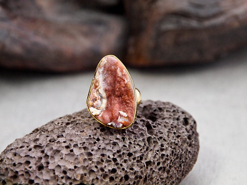 chalcedony druzy ring