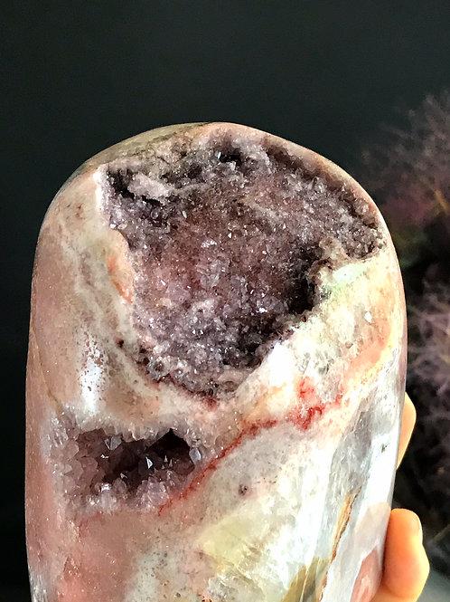 PA 40/1368  3.01lb pink amethyst druzy