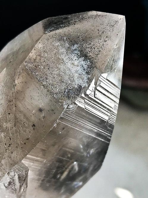1.51lb lemurian seed quartz crystal with rutile
