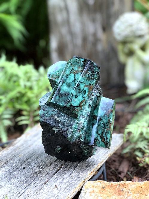 3.96lb raw emerald collector specimen