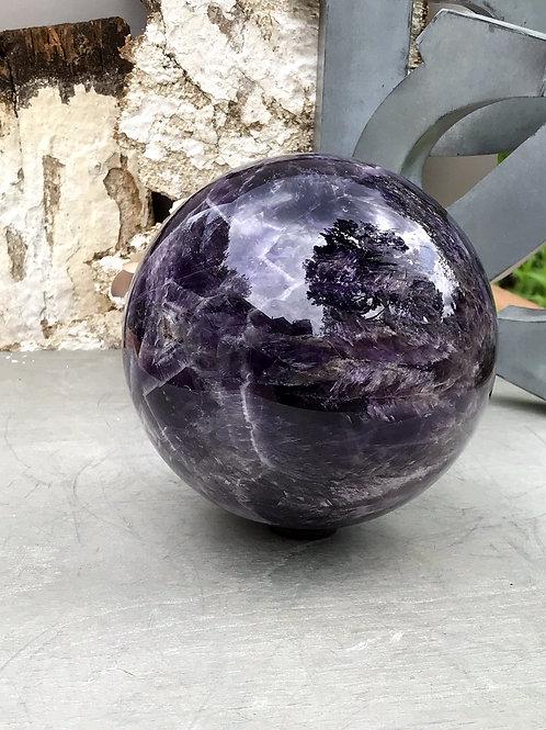 7.7lb  chevron amethyst sphere