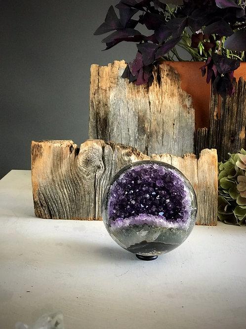 4.20 lb AAA deep purple amethyst sphere