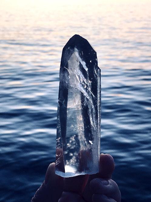 0.31lb lemurian quartz crystal