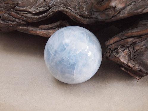 """2.5"""" blue calcite orb"""