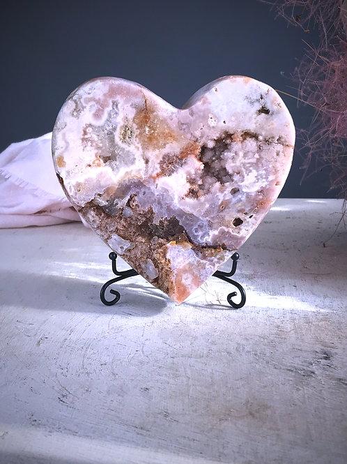 PA 80/1237  2.72lb pink amethyst heart