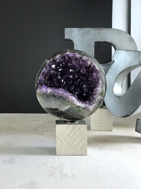 4.75 lb AAA purple amethyst sphere