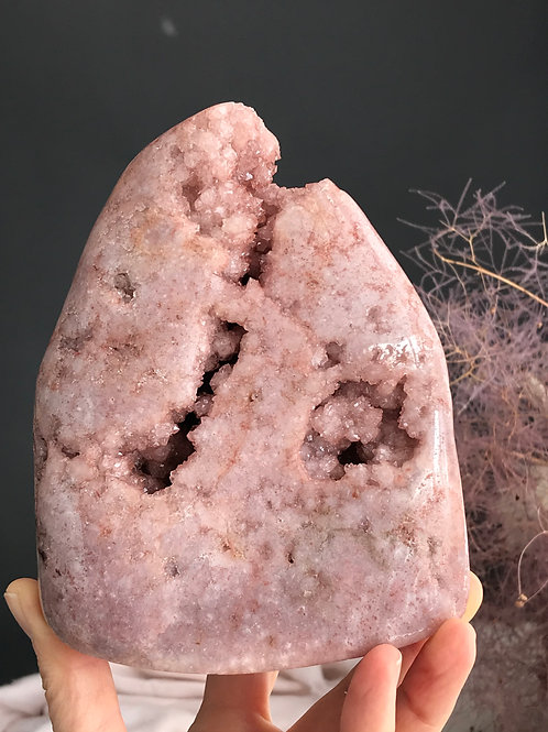 PA 40/1317  2.90lb pink amethyst druzy