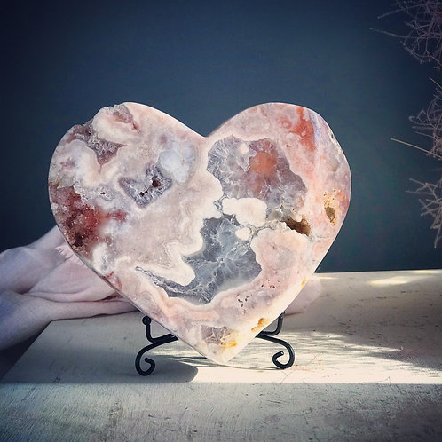 PA 80/1670  3.68lb pink amethyst heart