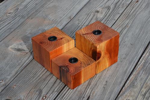 natural cedar display set of 3