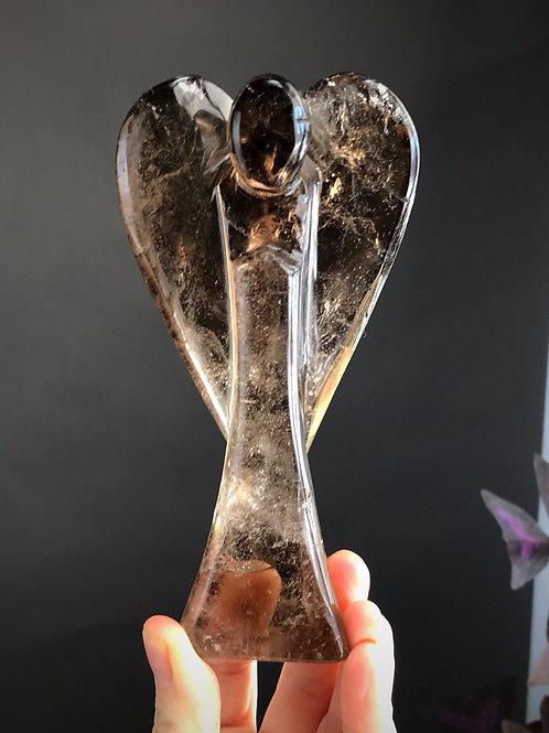 1.02lb smoky quartz angel