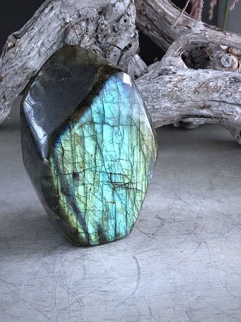labradorite display piece