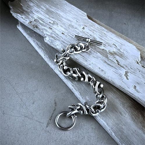 sterling silver large link bracelet