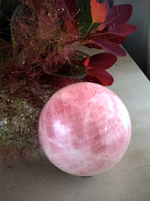 "6"" rose quartz orb"