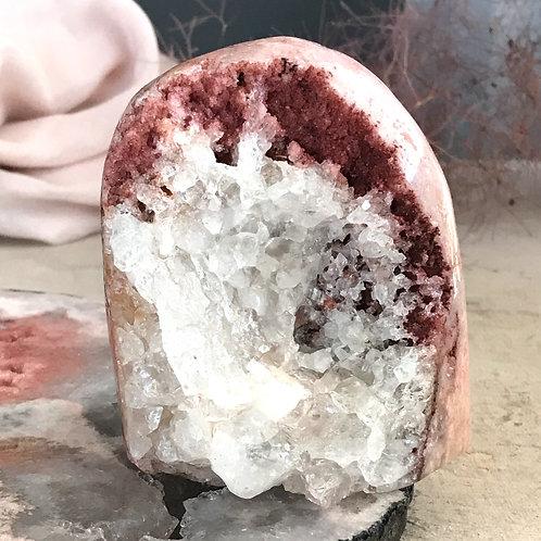 PA 50/972  ◦◦2.14lb◦◦ quartz and pink amethyst geode