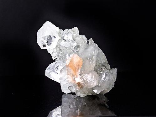 1.01 lb  AAA white apophyllite with stilbite