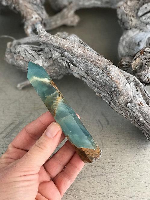 sea-green onyx point