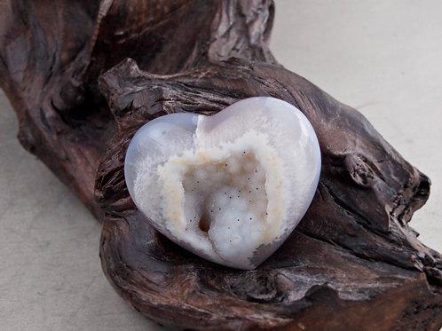agate geode heart