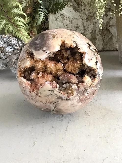 top grade pink smoky amethyst orb