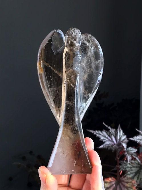 0.82lb smoky quartz angel