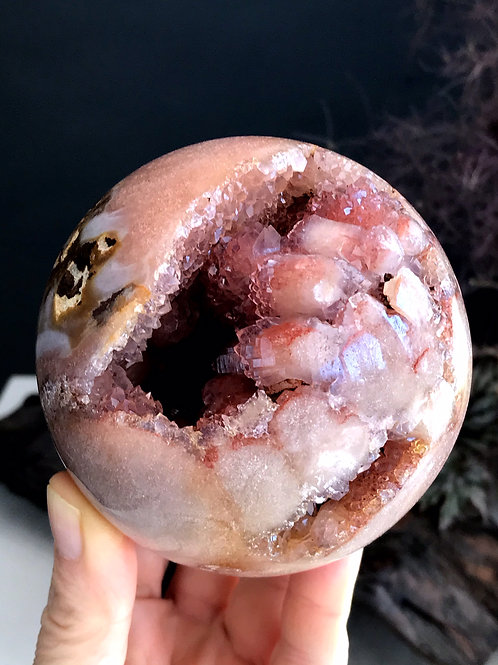 1.90lb rare pink amethyst sphere