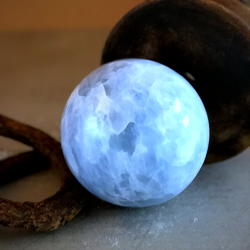 "5"" blue calcite orb"