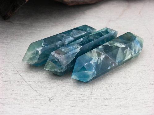 blue fluorite wand