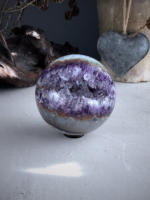 amethyst geode orb