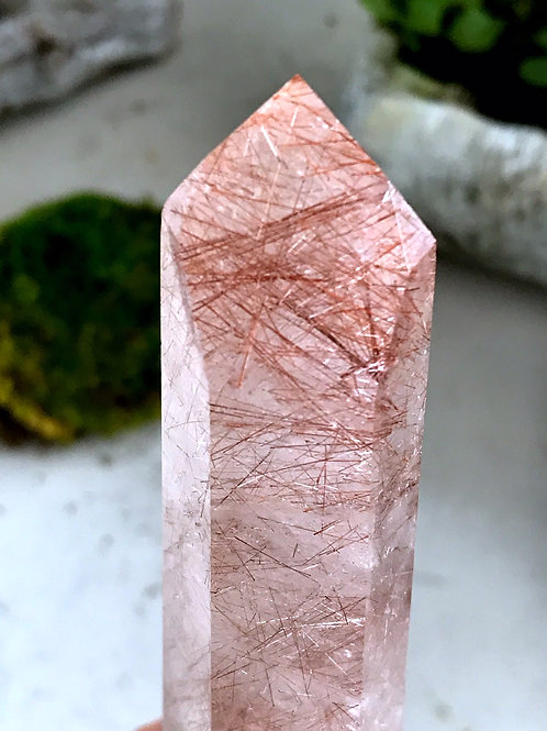 0.54lb copper rutile in quartz