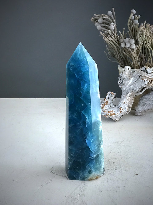 "9"" blue fluorite point"