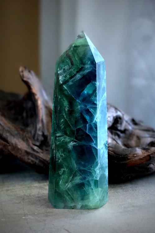 "8"" green/blue fluorite point"
