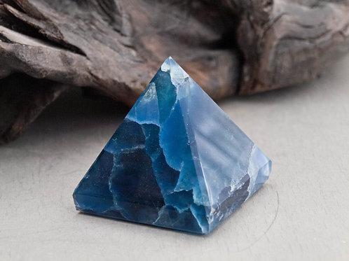 blue fluorite pyramid
