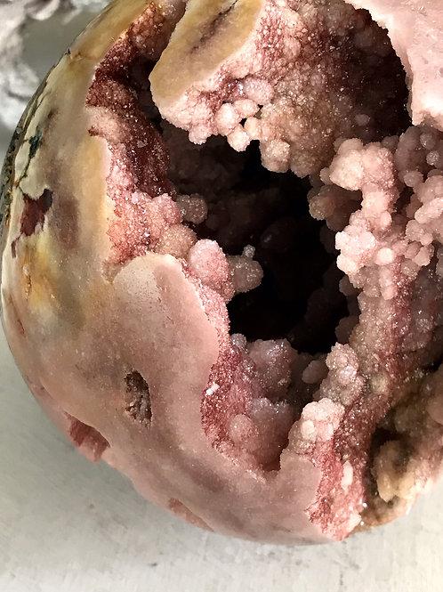 top grade pink amethyst orb