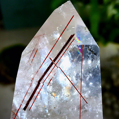 1.36lb copper rutile in quartz