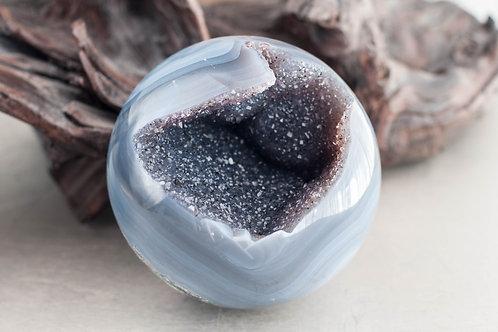 amethyst agate orb