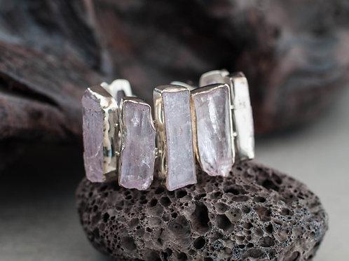 kunzite gemstone bracelet
