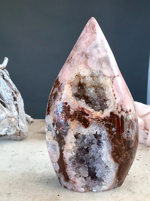 PA 74/2119  ◦◦3.89lb◦◦  pink violet amethyst flame