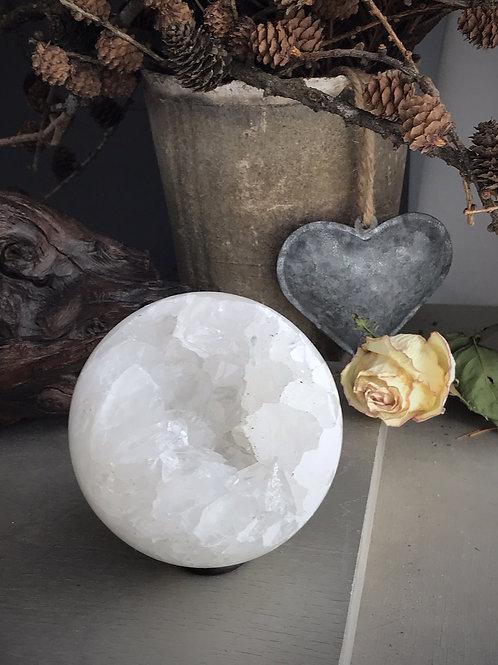 quartz druzy sphere orb