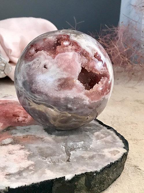 PA 100/1218   ◦◦2.68lb◦◦ blue pink amethyst orb