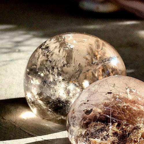 0.40lb rutile in quartz lens