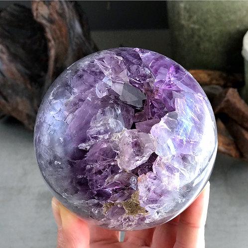 2.78lb amethyst geode orb