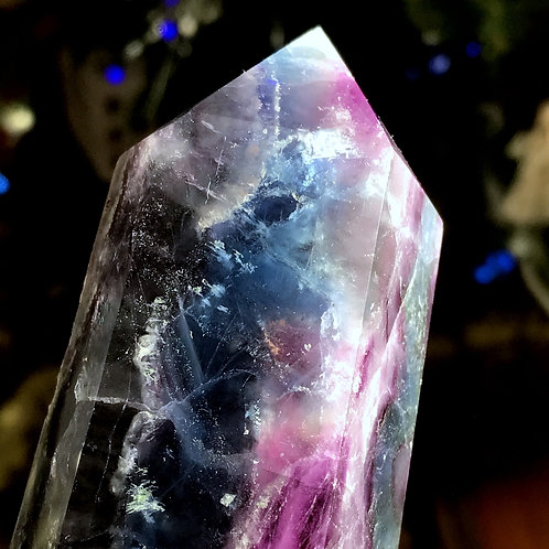 1.71lb rainbow fluorite point