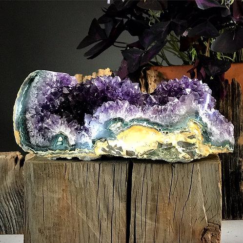 4.87 lb amethyst geode druzy