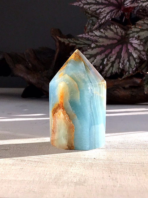 RESERVED 0.72 lb blue onyx point