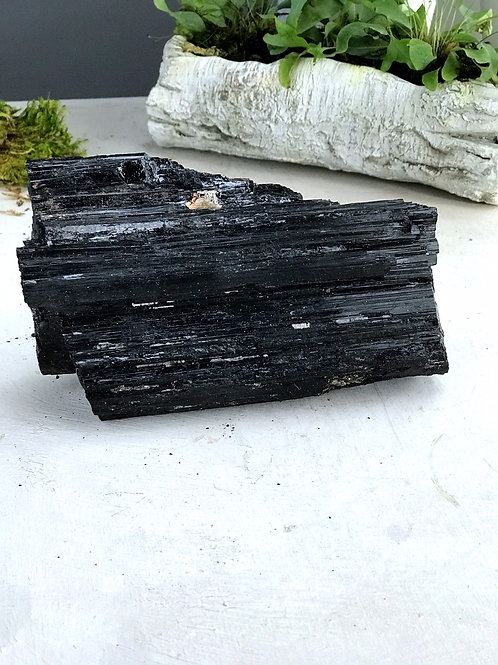 7.71 lb raw black tourmaline