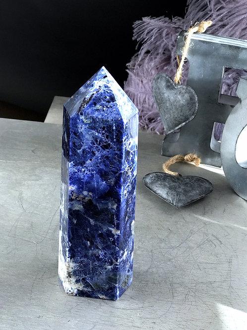 blue sodalite point