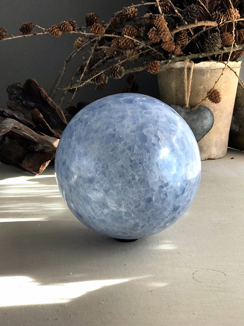 blue calcite orb